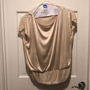 Beige silky blouse